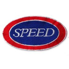 SPEED SIGN MOTIF IRON ON EMBROIDERED PATCH APPLIQUE